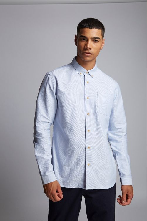 Hymn Sammons Birdseye Oxford Shirt Blue