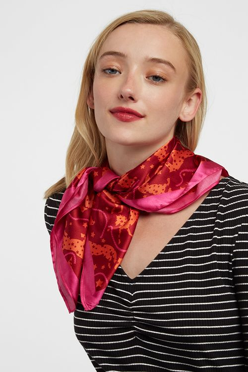 Louche Horse Scarf Pink