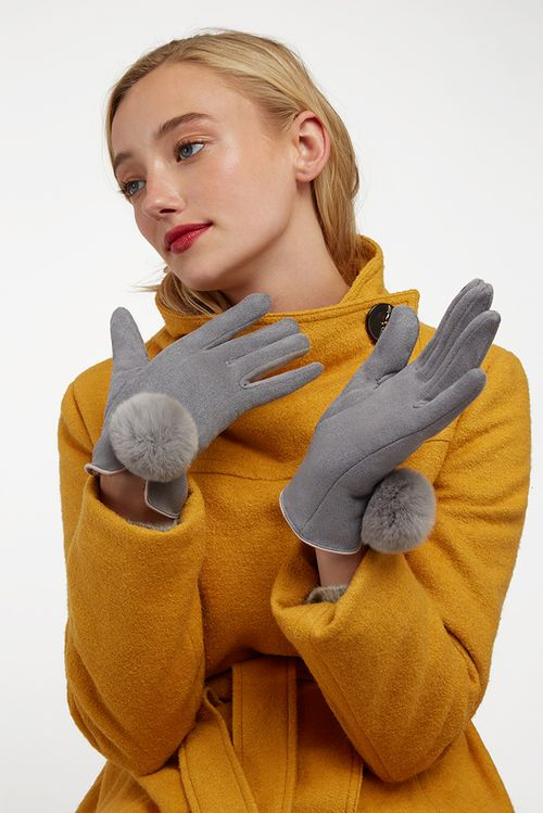 Louche Jabin Touch Screen Glove Grey