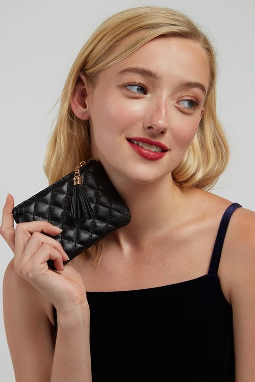 Louche Lingge Quilted Coin Purse Black