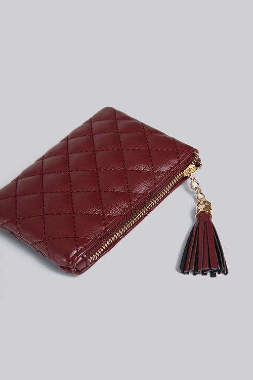 Louche Lingge Quilted Coin Purse Burgundy