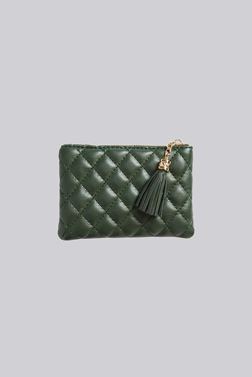 Louche Lingge Quilted Coin Purse Dark Green