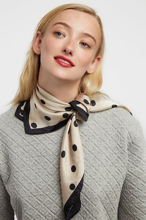 Louche Roxanne Scarf Taupe