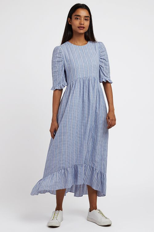 Louche Agathe Midaxi Dress  Blue
