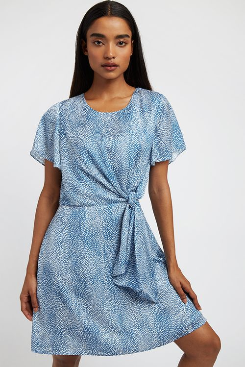 Louche Davy Fleck Mini Dress Blue