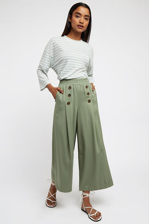 Louche Laurena Trouser Green