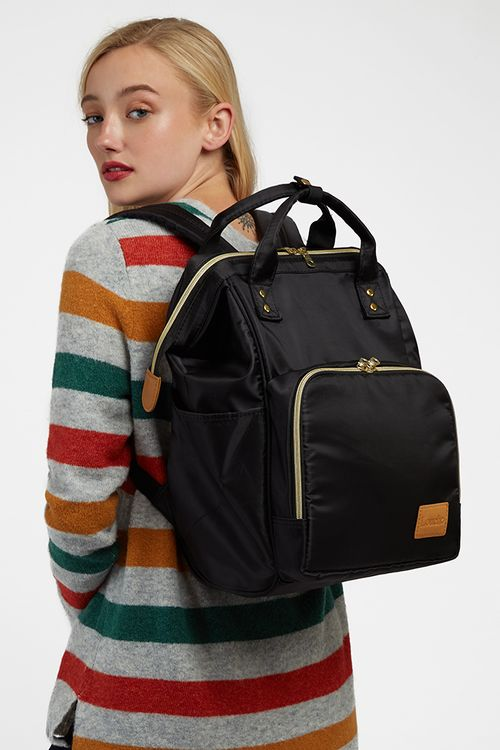Louche Lexi Framed Backpack Black