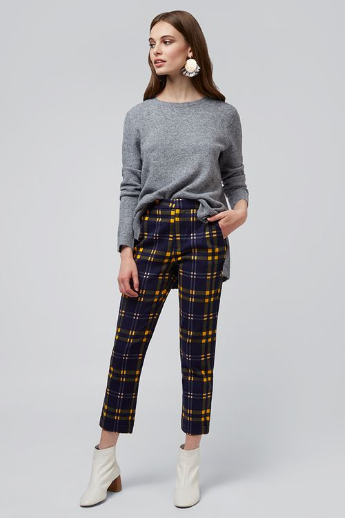 Louche Jaylo Checkmate Trouser Navy