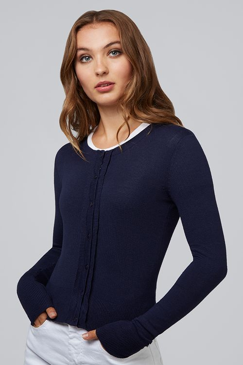 Louche Idie Scallop Cardigan Navy