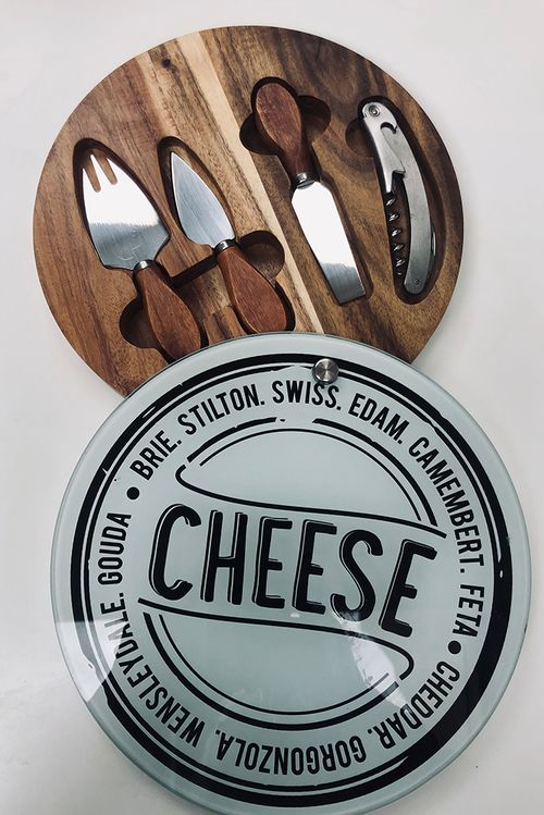 Cheese Board And 4 Tool Set