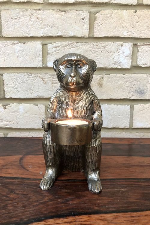 Brass Monkey Tealight Holder