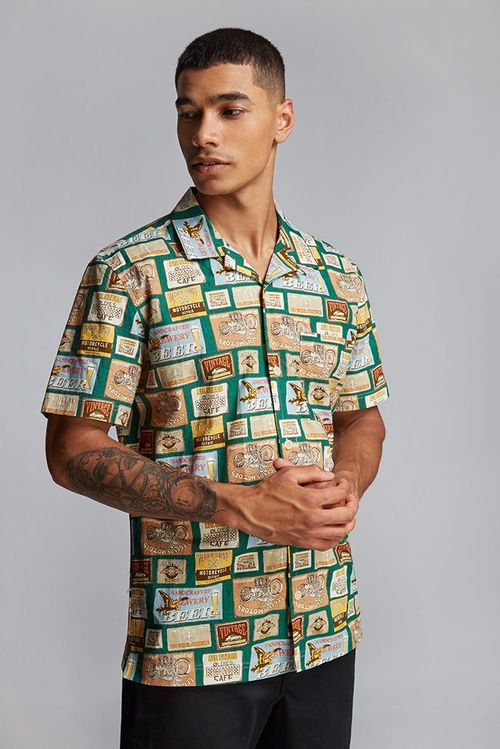 Hymn Beer Mat Resort Shirt Green