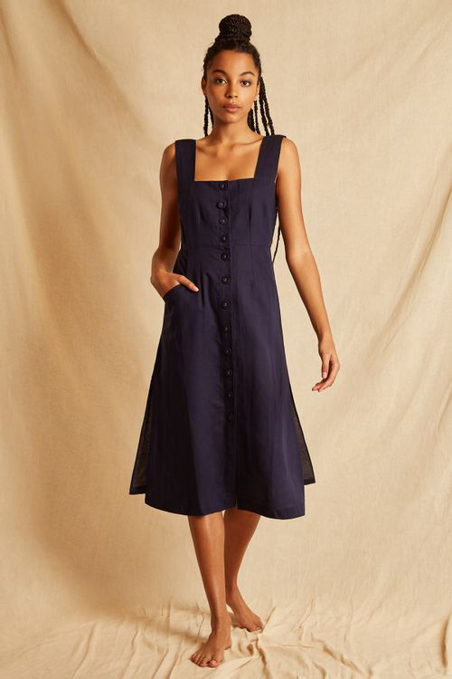 Louche Sustain Willow Dress Navy