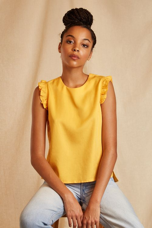 Louche Sustain Cassia Top Yellow