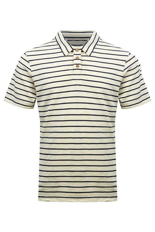 Hymn Honey Dew Striped Polo Shirt Ecru