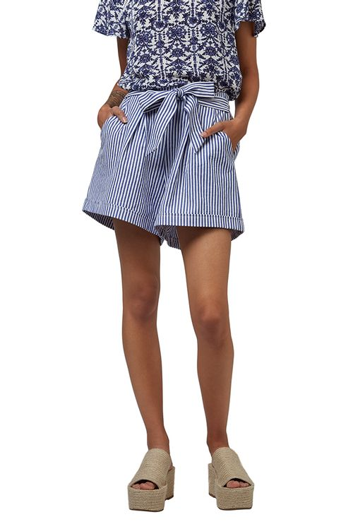Louche Soren Chambray Stripe Tie Shorts