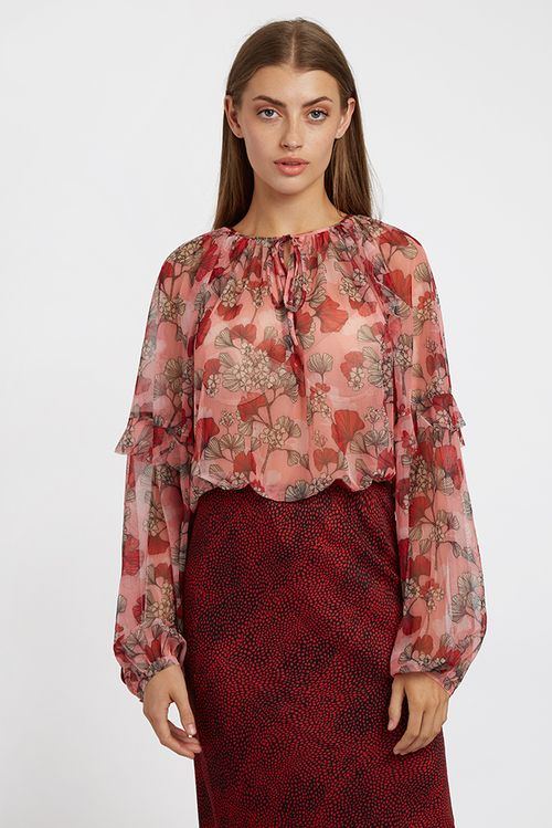 Louche Alba Hibiscus Blouse Pink