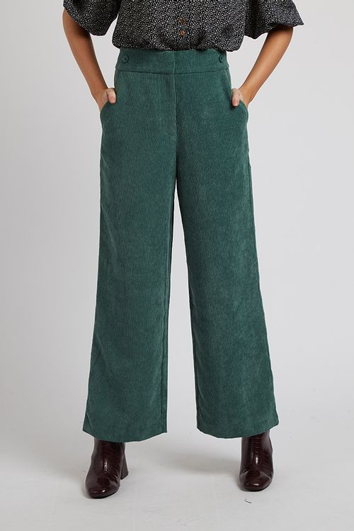 Louche Elina Cord Trouser Teal