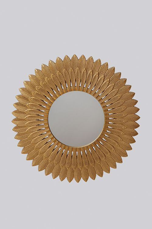Gold Feathered Mirror