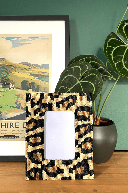 Leopard Print Photo Frame