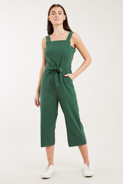 Louche Dawson Strappy Cropped Jumpsuit Green