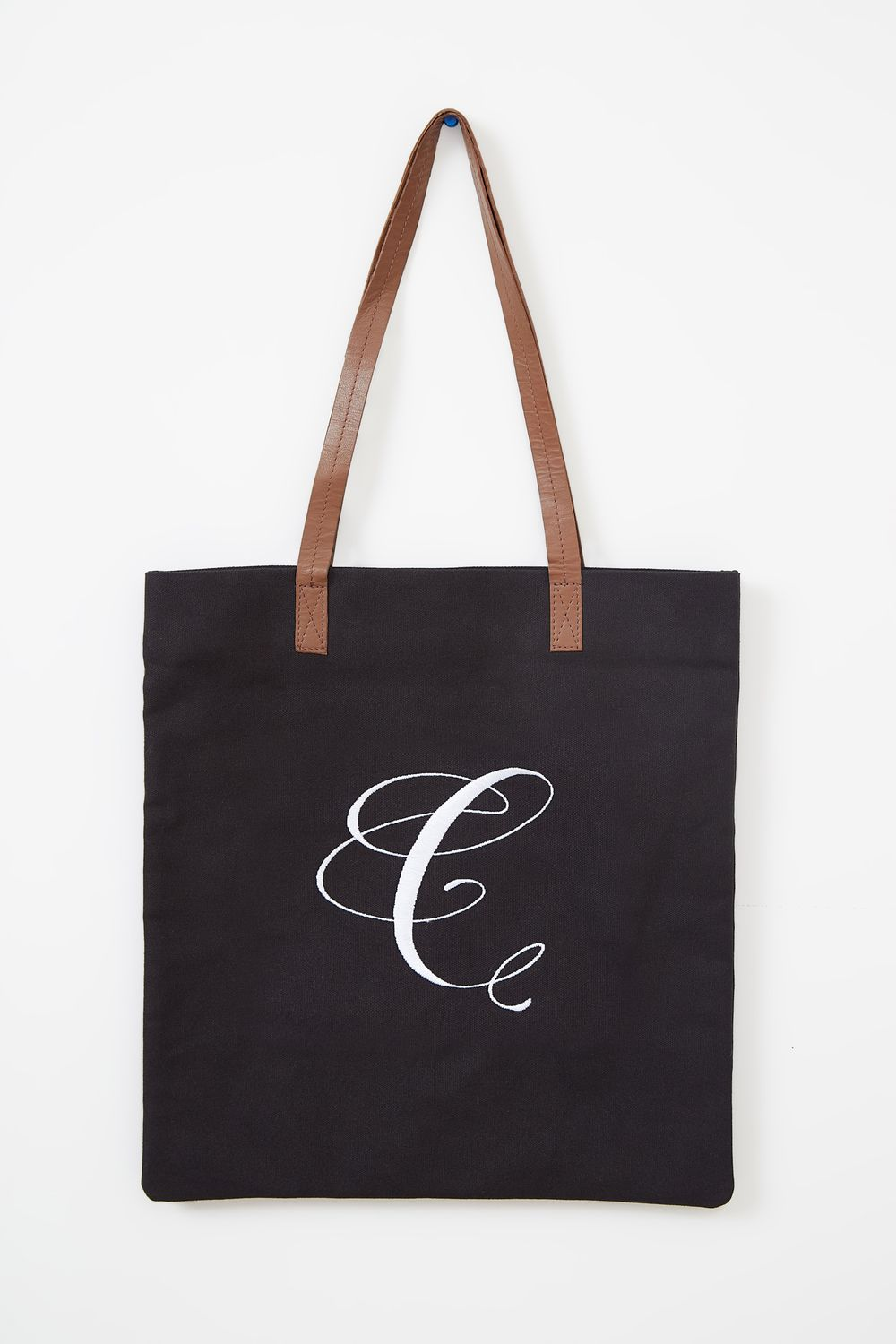Cara Letter Canvas Tote Bag