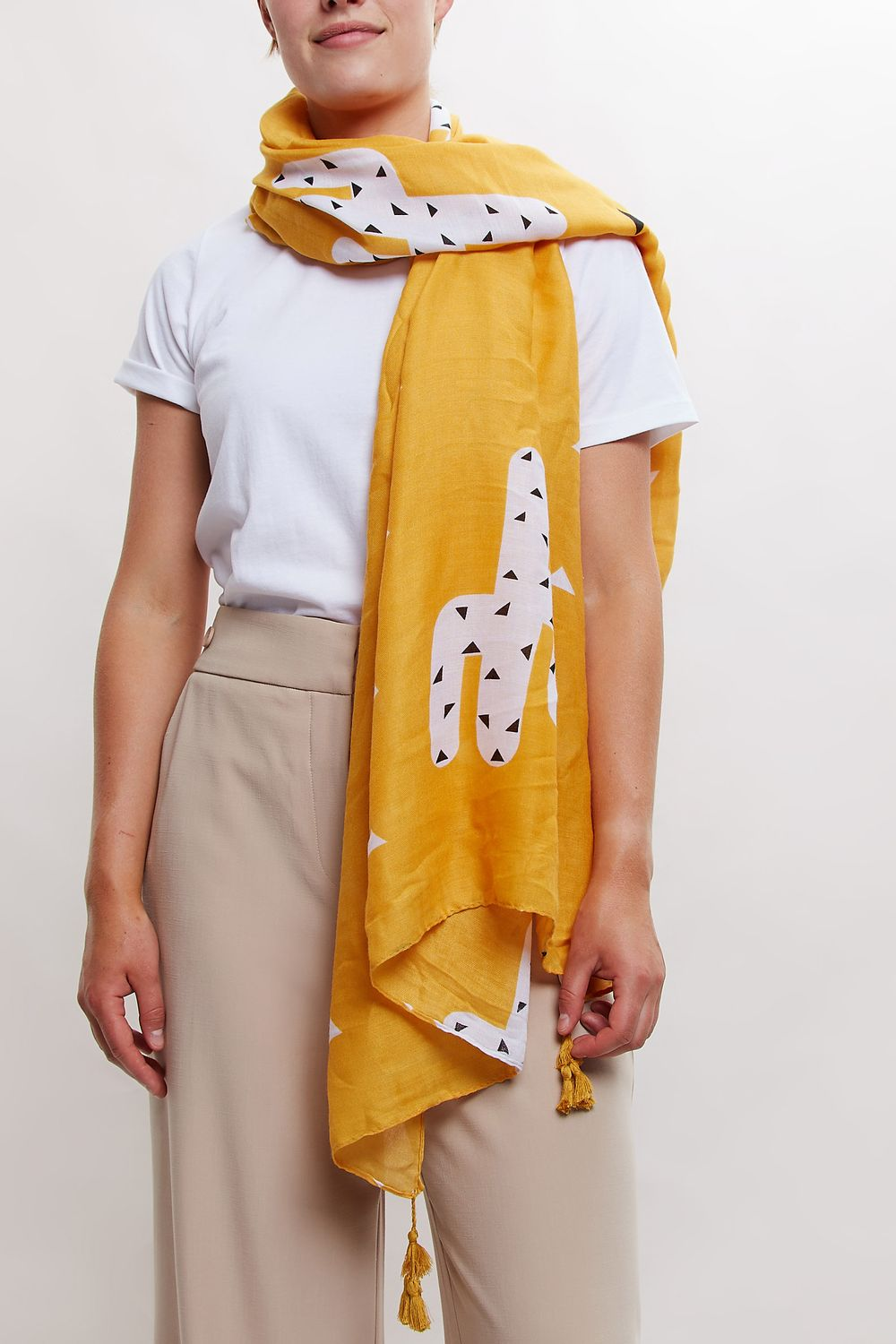 Louche Cactus Printed Scarf