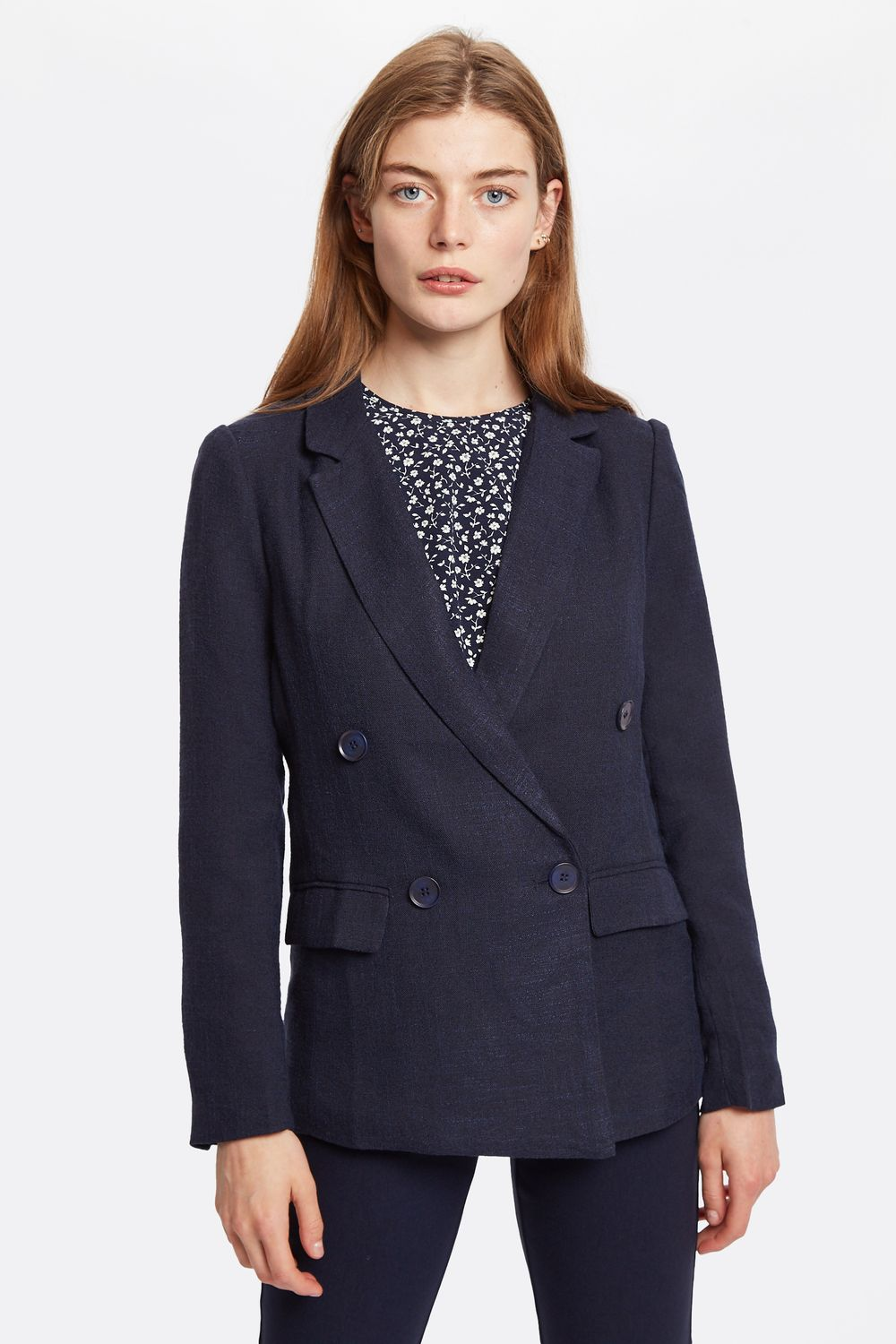 Riley Double Breasted Jacket Navy